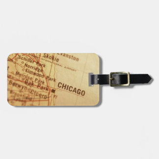 CHICAGO Vintage Map Tags For Luggage