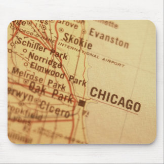 CHICAGO Vintage Map Mouse Pad