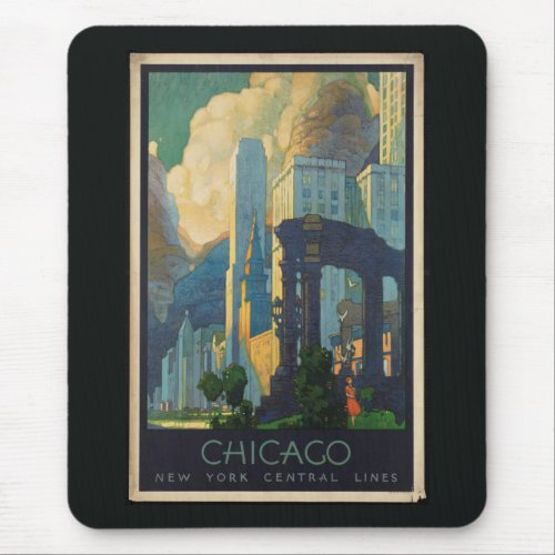 Chicago Vintage Travel Mouse Pad