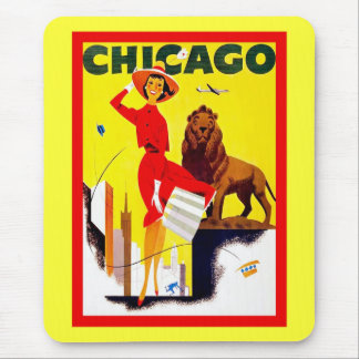 Chicago ~ Vintage Travel Mouse Pad