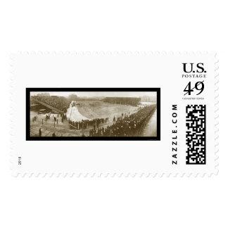Chicago vs Michigan Photo 1905 Stamp