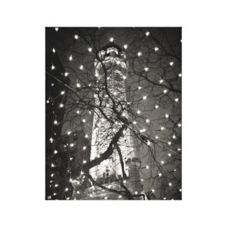 Chicago Water Tower at Christmastime Gallery Wrapped Canvas