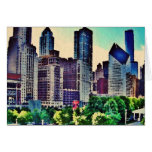 Chicago watercolor card