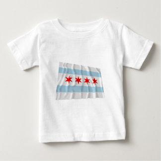 Chicago Waving Flag Baby T-Shirt