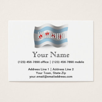 Chicago Waving Flag Business Card