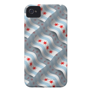 Chicago Waving Flag iPhone 4 Case-Mate Case