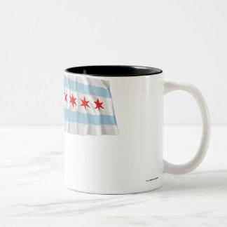 Chicago Waving Flag Coffee Mug