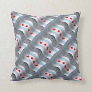 Chicago Waving Flag Pillow