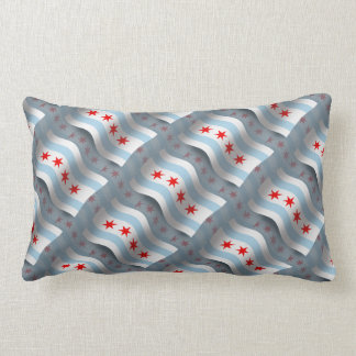 Chicago Waving Flag Pillows