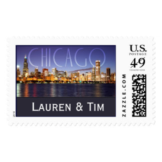 Chicago Wedding Postage Stamps