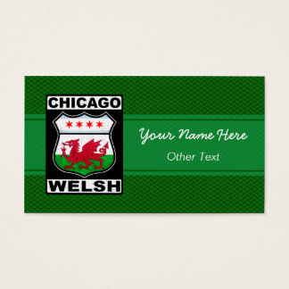 Chicago Welsh American Custom Business Cards