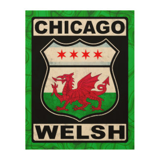 Chicago Welsh American Wood Print