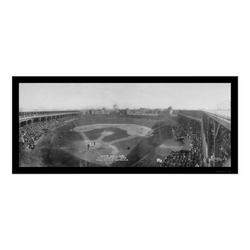 Chicago White Sox Cubs Photo 1909 Poster