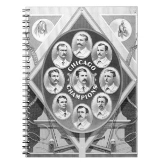 Chicago White Stockings 1877 Spiral Note Book