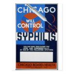 Chicago Will Control Syphilis Postcard
