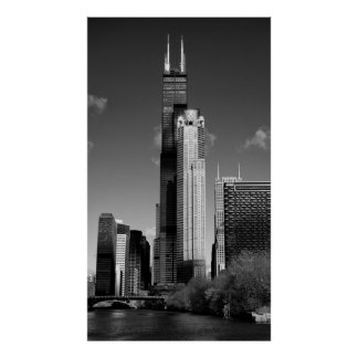 CHICAGO WILLIS SKYSCRAPER POSTER