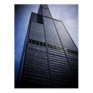 Chicago Willis Tower Skyscraper Postcard