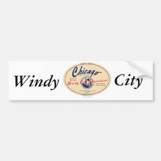 Chicago Windy City Bumper Sticker