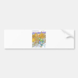 Chicago Windy City Cartoon Bumper Sticker