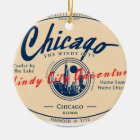 Chicago Windy City Ceramic Ornament