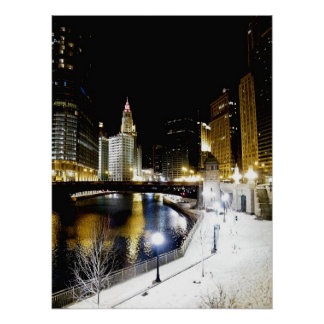 Chicago Winter Poster