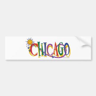 Chicago-With-SUn---KIDS Car Bumper Sticker