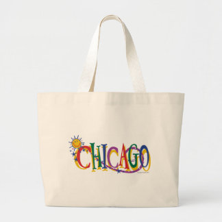 Chicago-With-SUn---KIDS Large Tote Bag