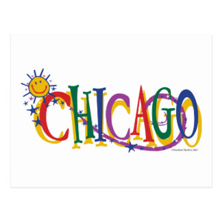 Chicago-With-SUn---KIDS Postcard