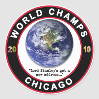 CHICAGO WORLD CHAMPS STICKERS