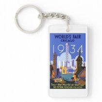 Chicago world fair 1934 keychain