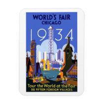 Chicago world fair 1934 magnet