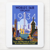 Chicago world fair 1934 mouse pad