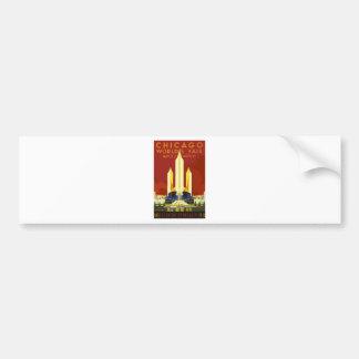 Chicago World Fair Vintage Bumper Sticker