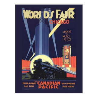 Chicago World s Fair 1933 Vintage Postcard