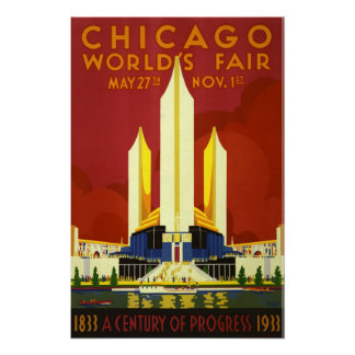 Chicago World s Fair 1933 Vintage Poster