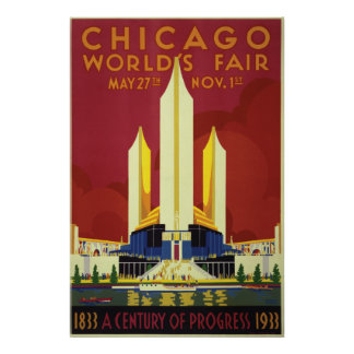 Chicago World s Fair Expo 1933 Poster