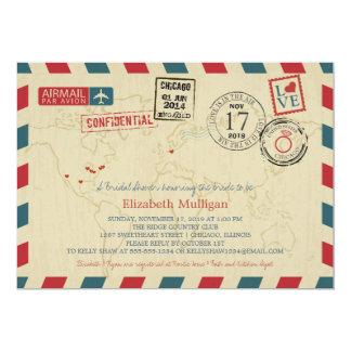 Chicago World Traveler Airmail | Bridal Shower Card