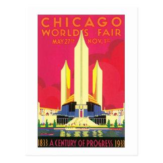 Chicago World's Fair 1833-1933 Postcard