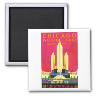 Chicago World's Fair, 1933 2 Inch Square Magnet