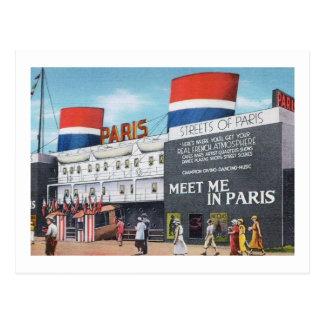 Chicago World's Fair 1933 Streets of Paris Vintage Postcard