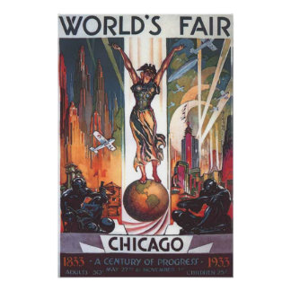 Chicago World's Fair 1933 Vintage Poster