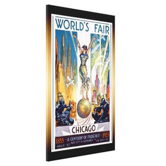 Chicago World's Fair 1933 - Vintage Retro Art Deco Canvas Print