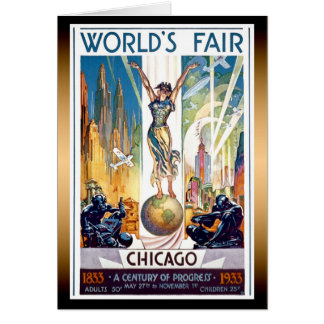 Chicago World's Fair 1933 - Vintage Retro Art Deco Card