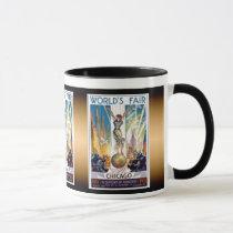 Chicago World's Fair 1933 - Vintage Retro Art Deco Mug