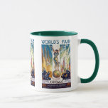 Chicago World's Fair 1933 - Vintage Retro Art Deco Mug