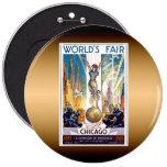 Chicago World's Fair 1933 - Vintage Retro Art Deco Pinback Button