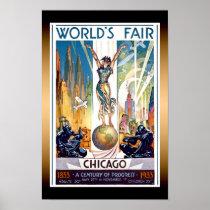 Chicago World's Fair 1933 - Vintage Retro Art Deco