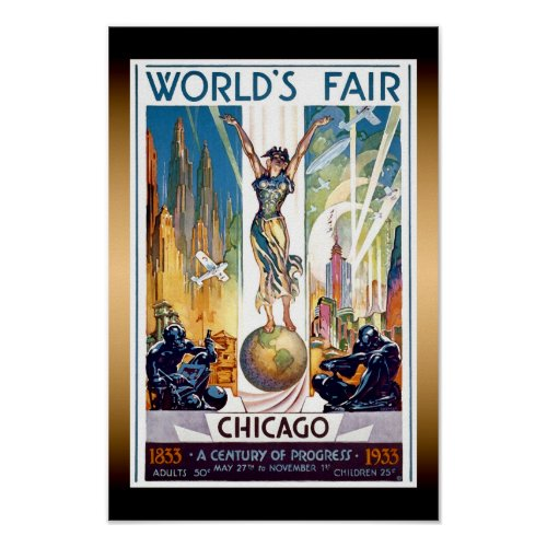 Chicago World's Fair 1933 - Vintage Retro Art Deco