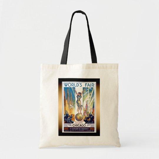 Chicago World's Fair 1933 - Vintage Retro Art Deco Tote Bag