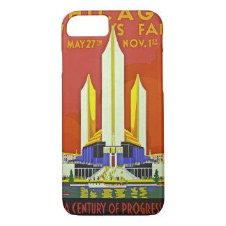 Chicago Worlds Fair 1933 Vintage Travel Art iPhone 8/7 Case